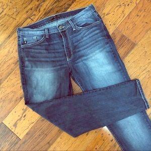 Kancan Buckle Denim Skinny Jean 32
